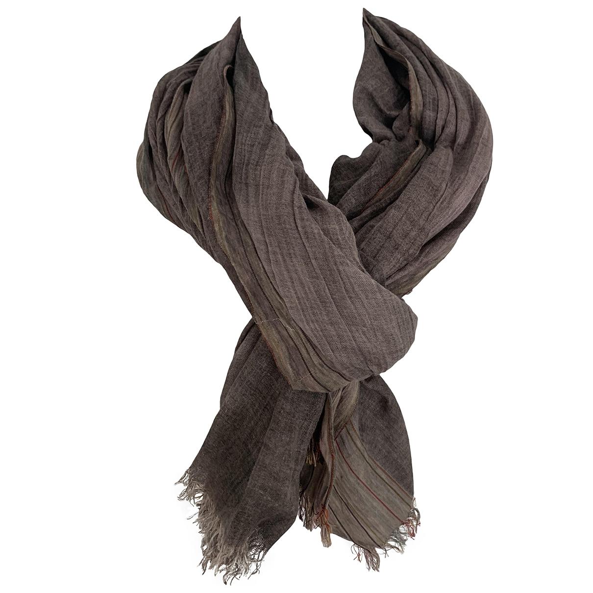 Faliero Sarti \N Brown Silk handkerchief for Women \N
