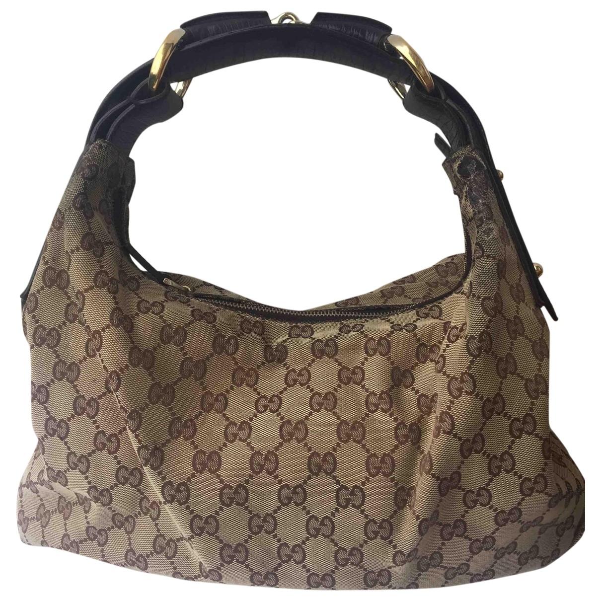 Gucci - Sac a main Hobo pour femme en toile - beige