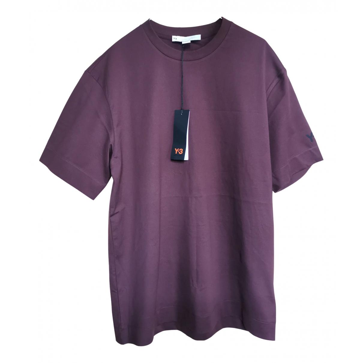 Y-3 By Yohji Yamamoto - Tee shirts   pour homme en coton - bordeaux