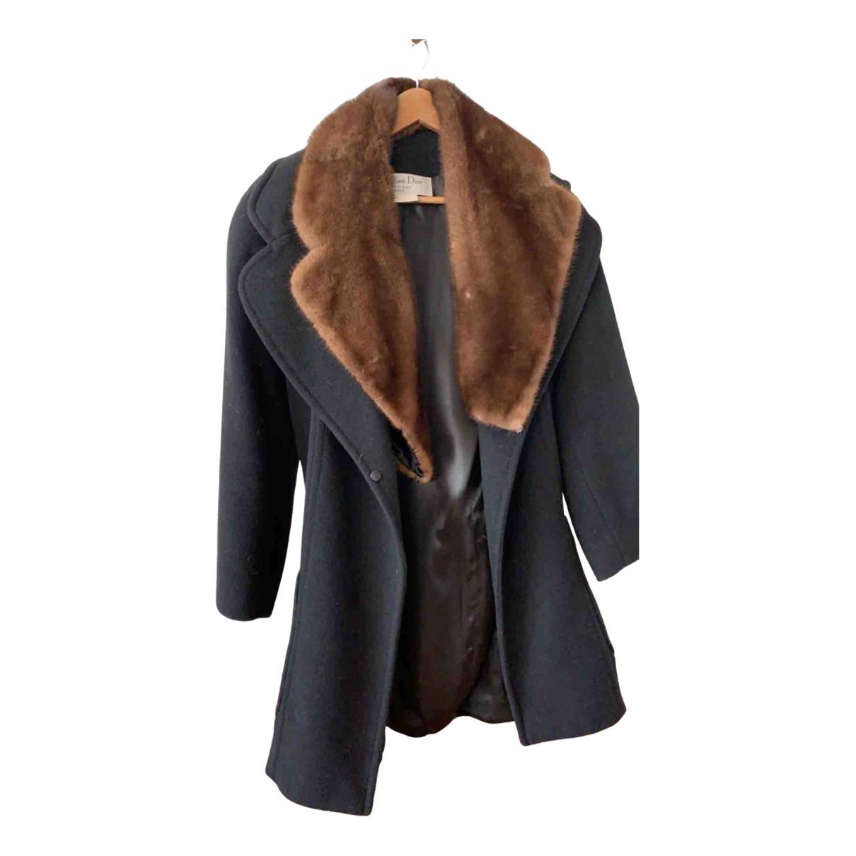 Dior - Manteau   pour femme en fourrure synthetique - noir