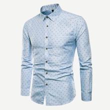 Maenner Hemd mit zufaelligem Muster
