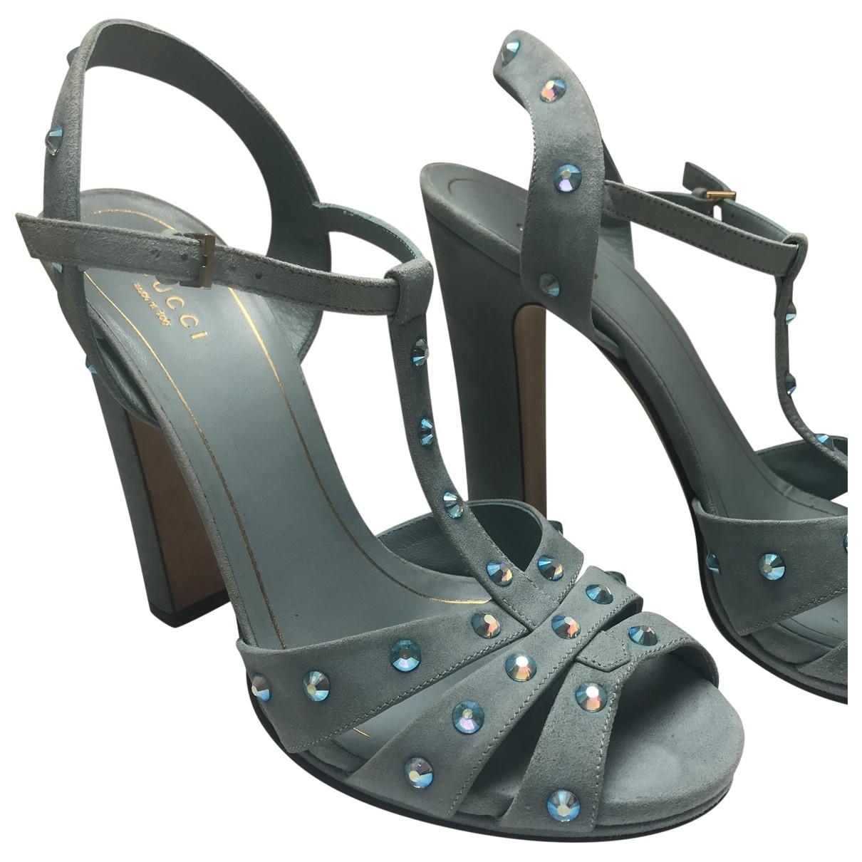 Gucci \N Blue Suede Sandals for Women 40 EU