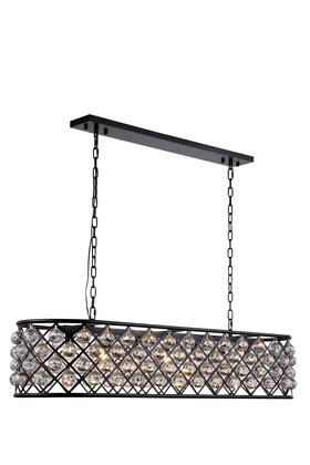 1216G50MB/RC 1216 Madison Collection Pendant Lamp L: 50in W: 13in H: 15in Lt: 7 Mocha Brown Finish Royal Cut Crystal
