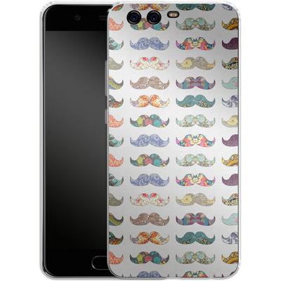 Huawei P10 Silikon Handyhuelle - Mustache Mania von Bianca Green