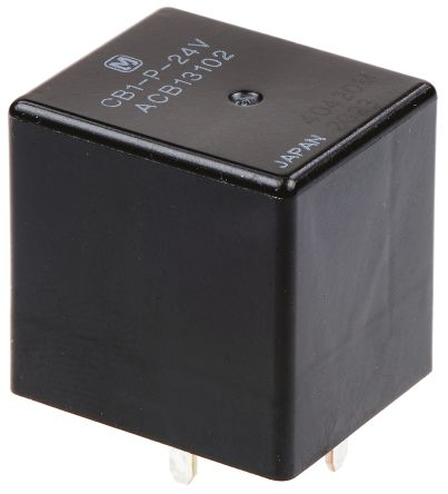 Panasonic , 24V dc Coil Automotive Relay SPDT, 20A Switching Current PCB Mount