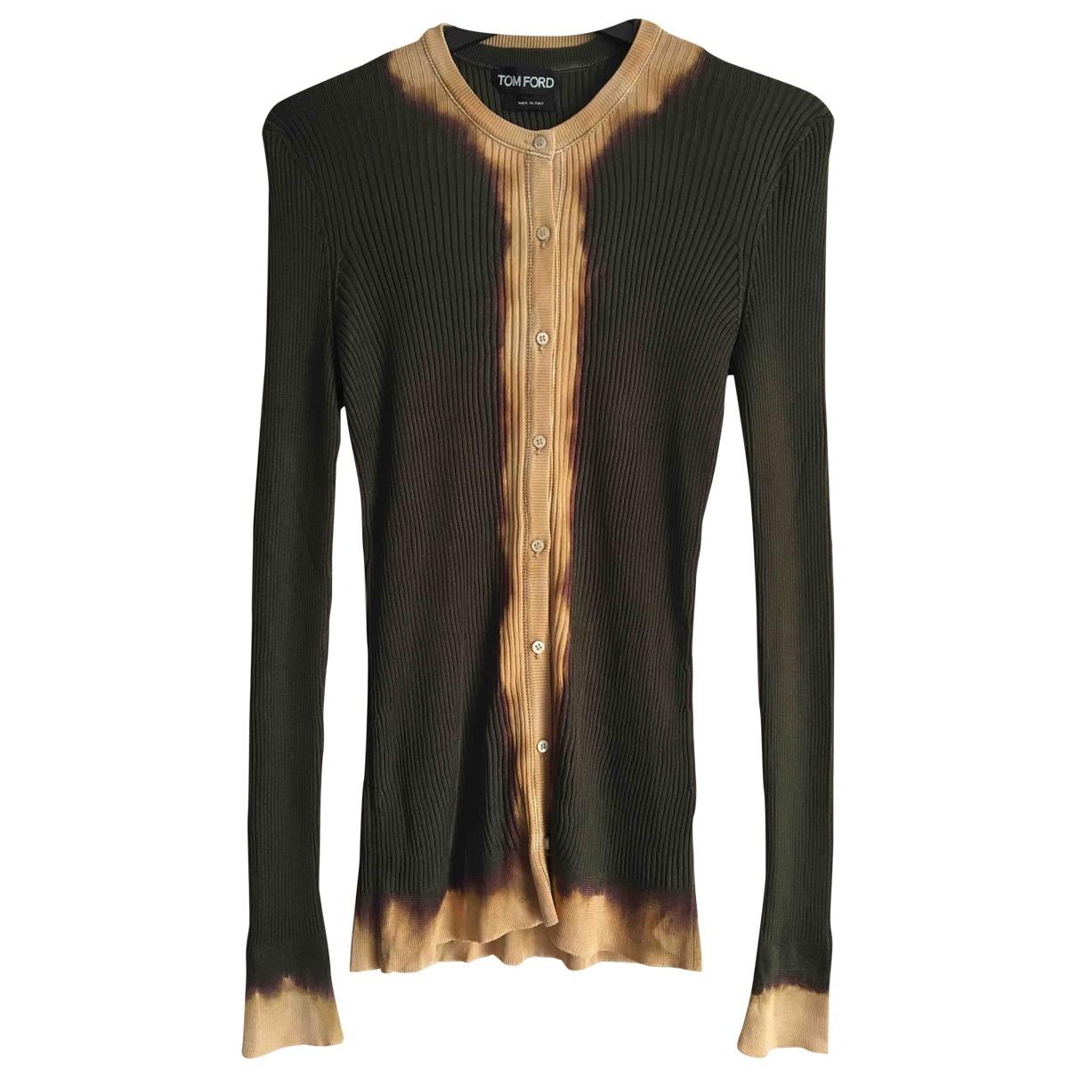 Tom Ford \N Pullover in  Khaki Seide