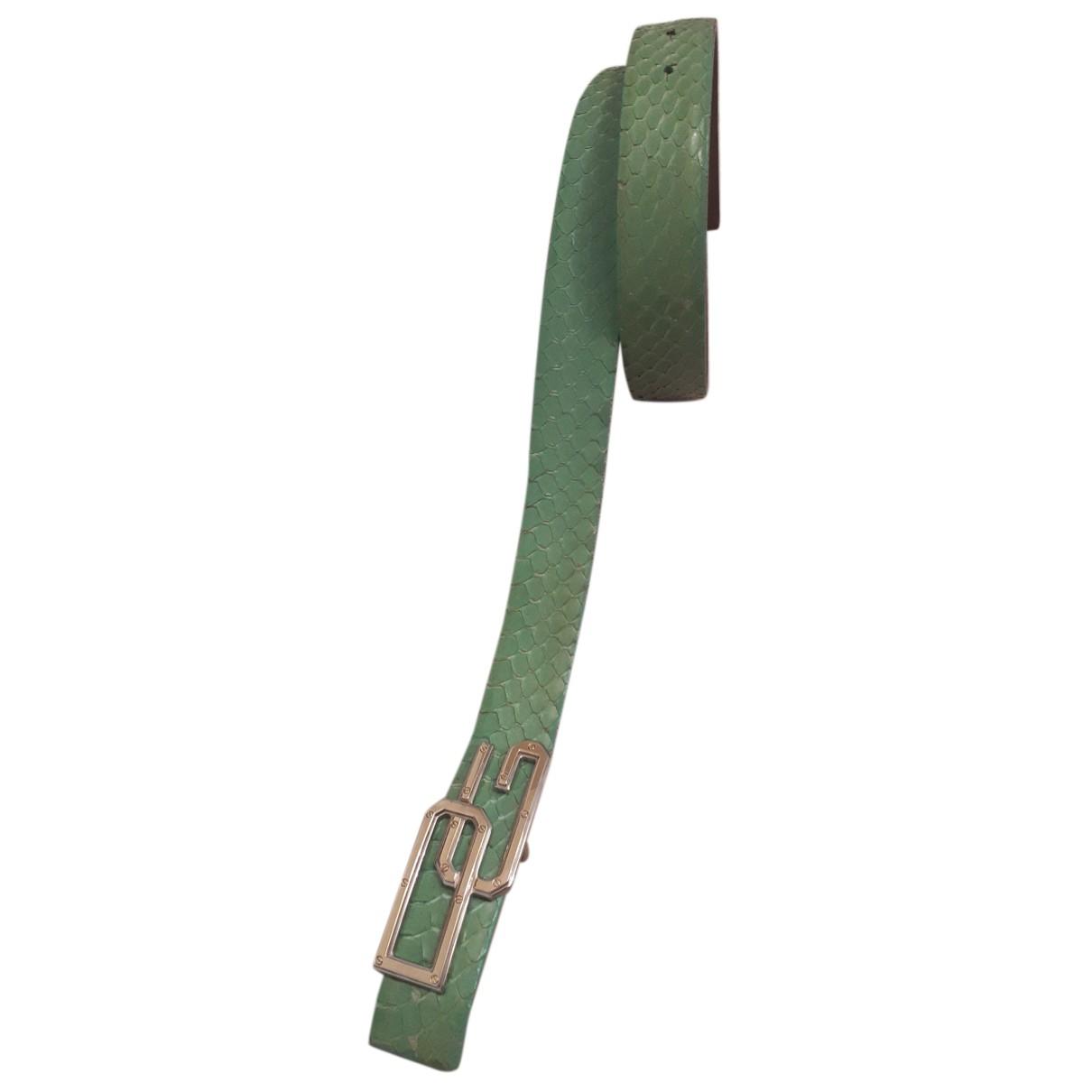 Dolce & Gabbana N Green Python belt for Women S International