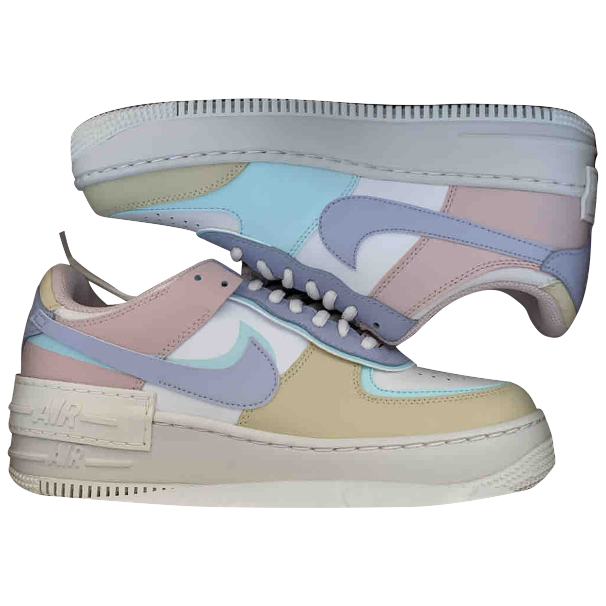 Nike - Baskets Air Force 1 pour femme en cuir - multicolore