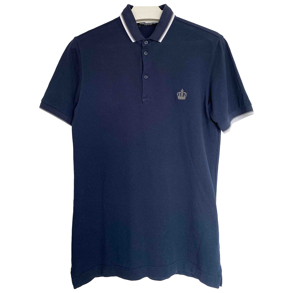 Dolce & Gabbana \N Navy Cotton Polo shirts for Men 46 IT