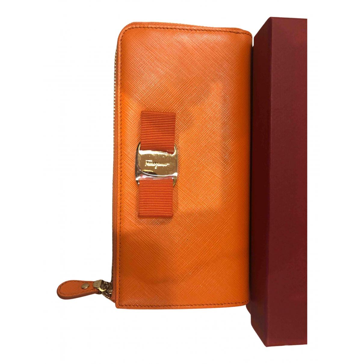 Salvatore Ferragamo N Orange wallet for Women N