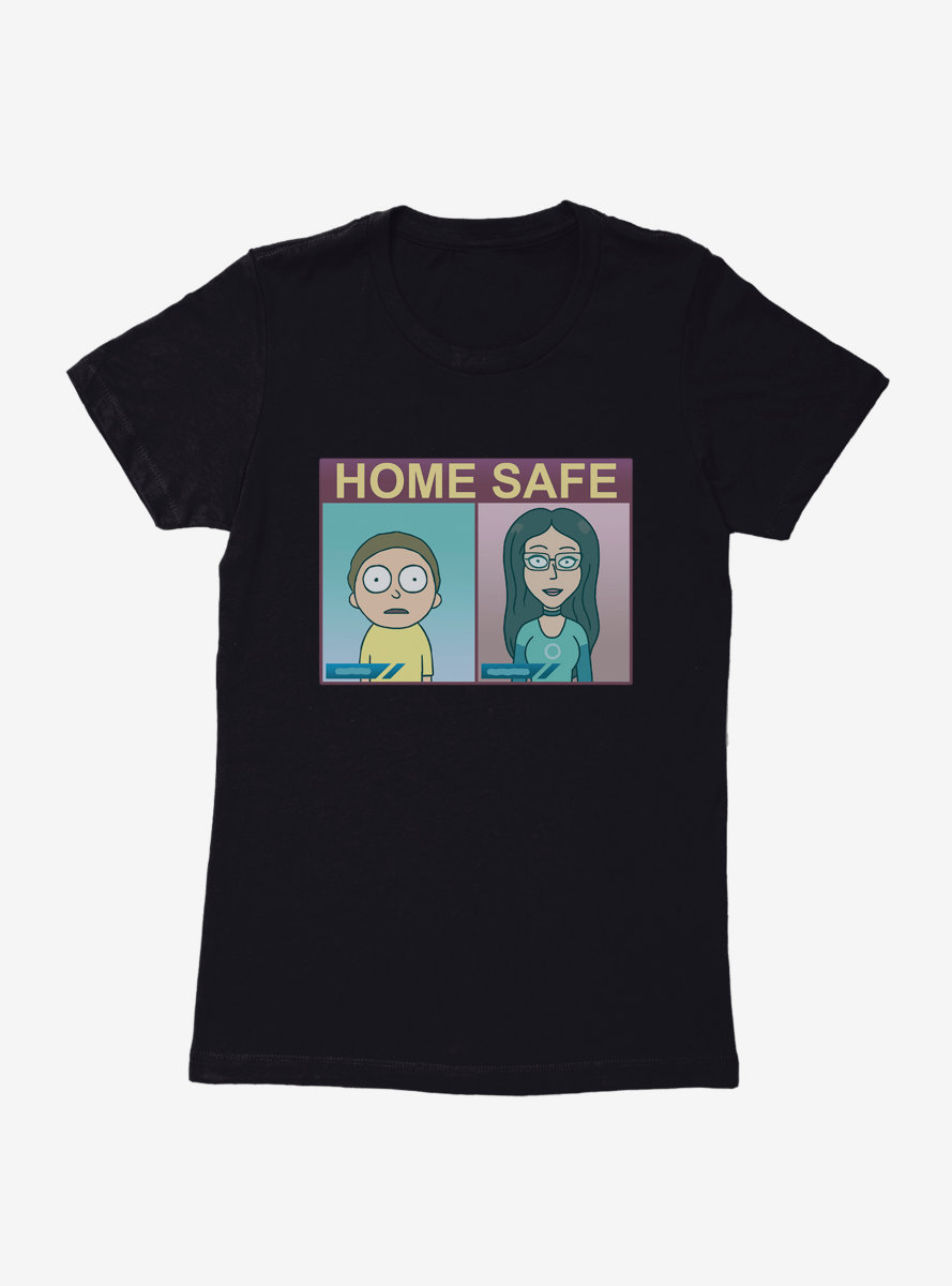 Rick And Morty Home Safe Womens T-Shirt