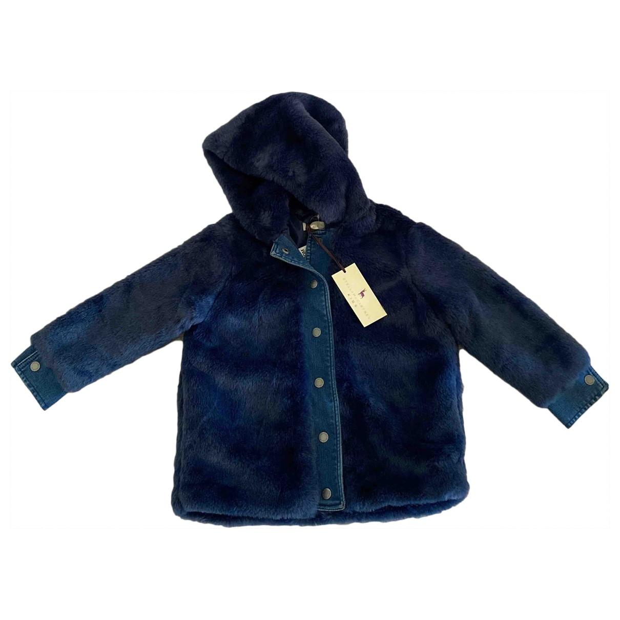 Stella Mccartney - Blousons.Manteaux   pour enfant en fourrure synthetique - bleu