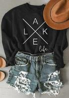 Lake Life Cross Sweatshirt - Black