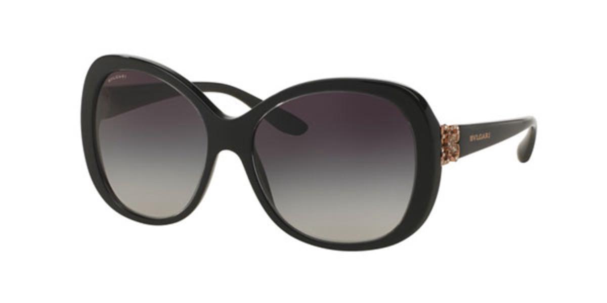 Bvlgari BV8171BF Asian Fit 53838G Women's Sunglasses Black Size 57