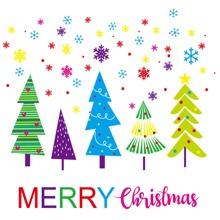 Wandaufkleber mit Weihnachtsbaum Muster