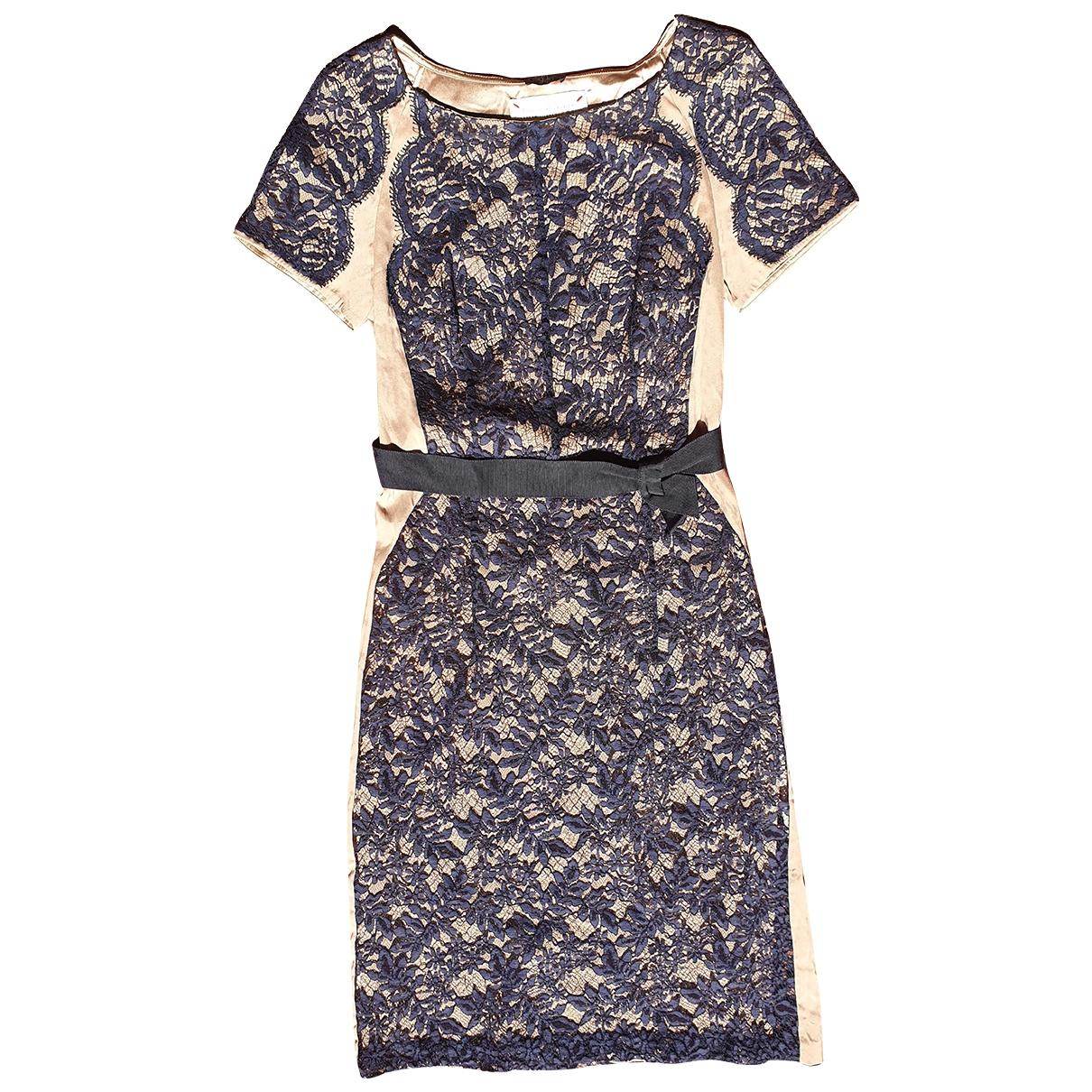 Collette Dinnigan \N Kleid in  Blau Seide