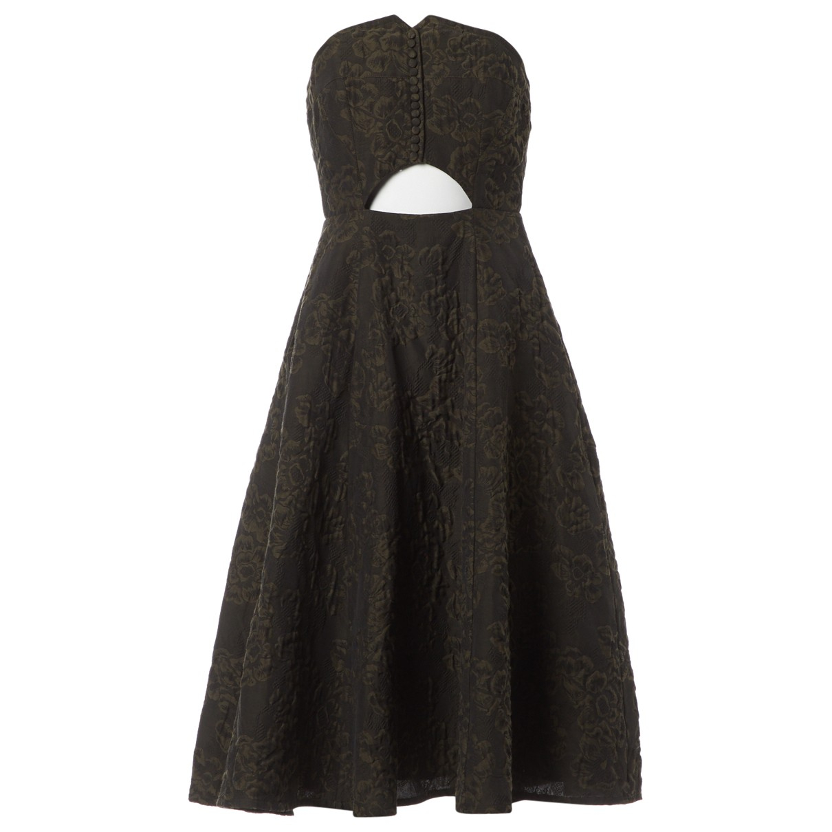 Erdem - Robe   pour femme en coton - kaki