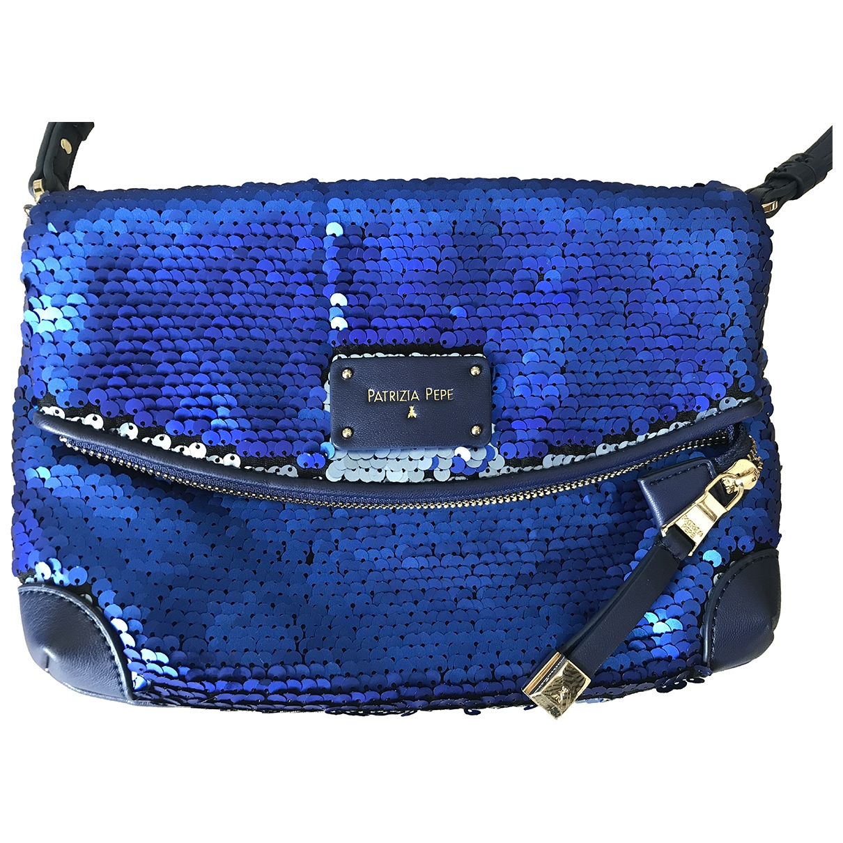 Patrizia Pepe \N Navy Leather handbag for Women \N