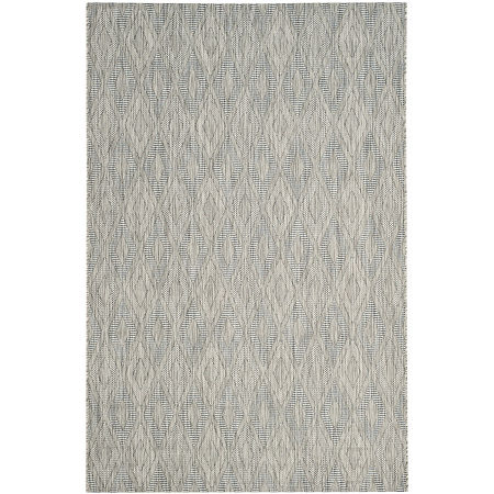 Safavieh Courtyard Collection Elisa Geometric Indoor/Outdoor Area Rug, One Size , Gray