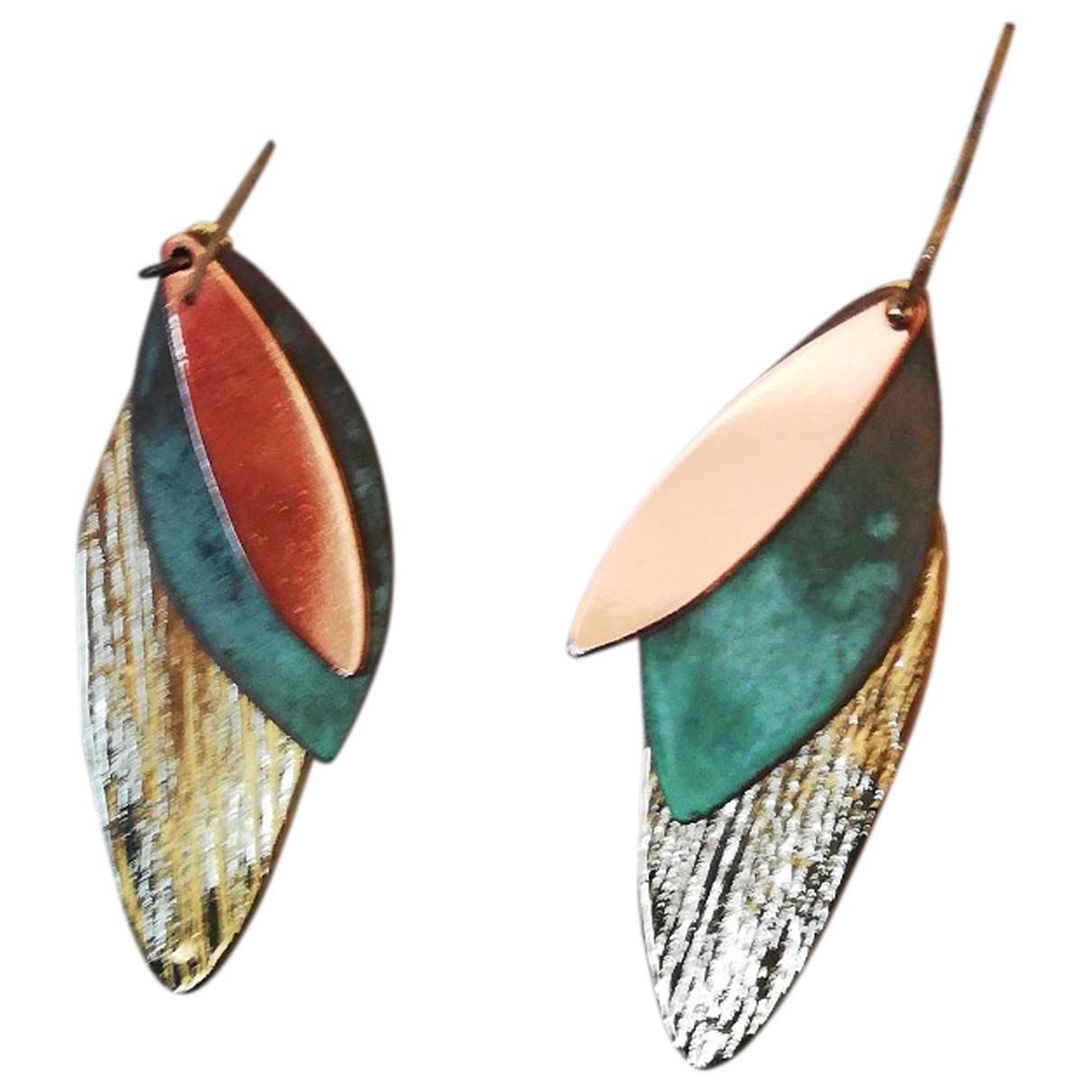 Bimba Y Lola - Boucles doreilles   pour femme en or et acier - multicolore