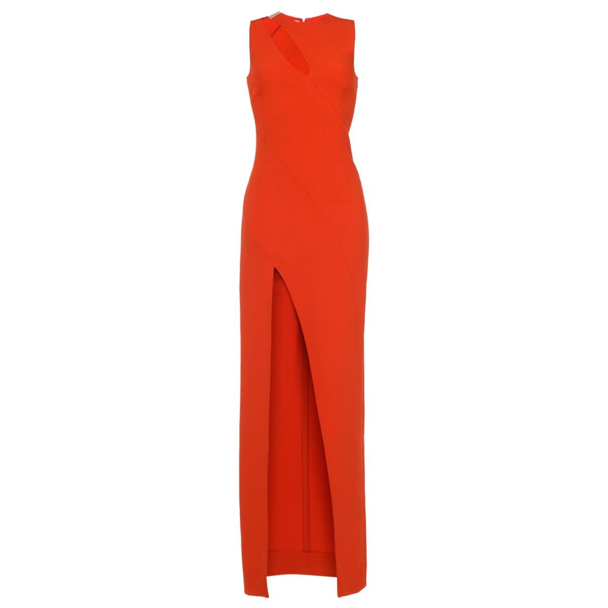 Mugler \N Kleid in  Orange Viskose