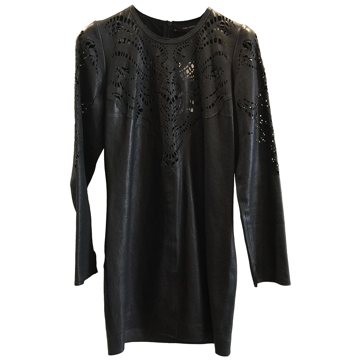 Isabel Marant - Robe   pour femme en cuir - noir