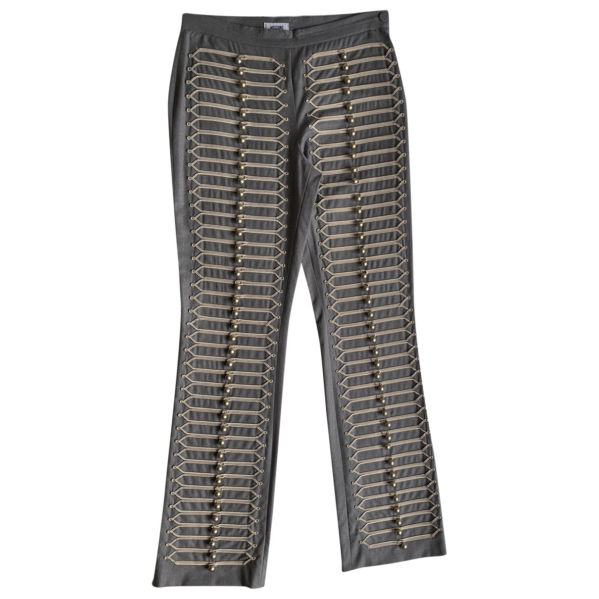 Moschino Cheap And Chic \N Grey Wool Trousers for Women 44 IT