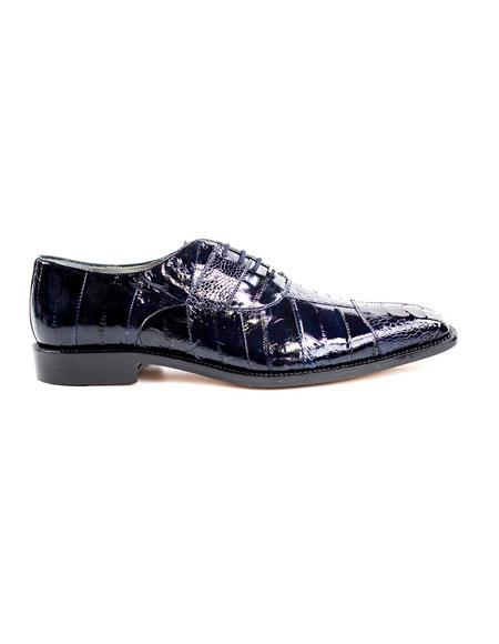 Mens Belvedere Fashionable Black Lace Up Dress Shoes