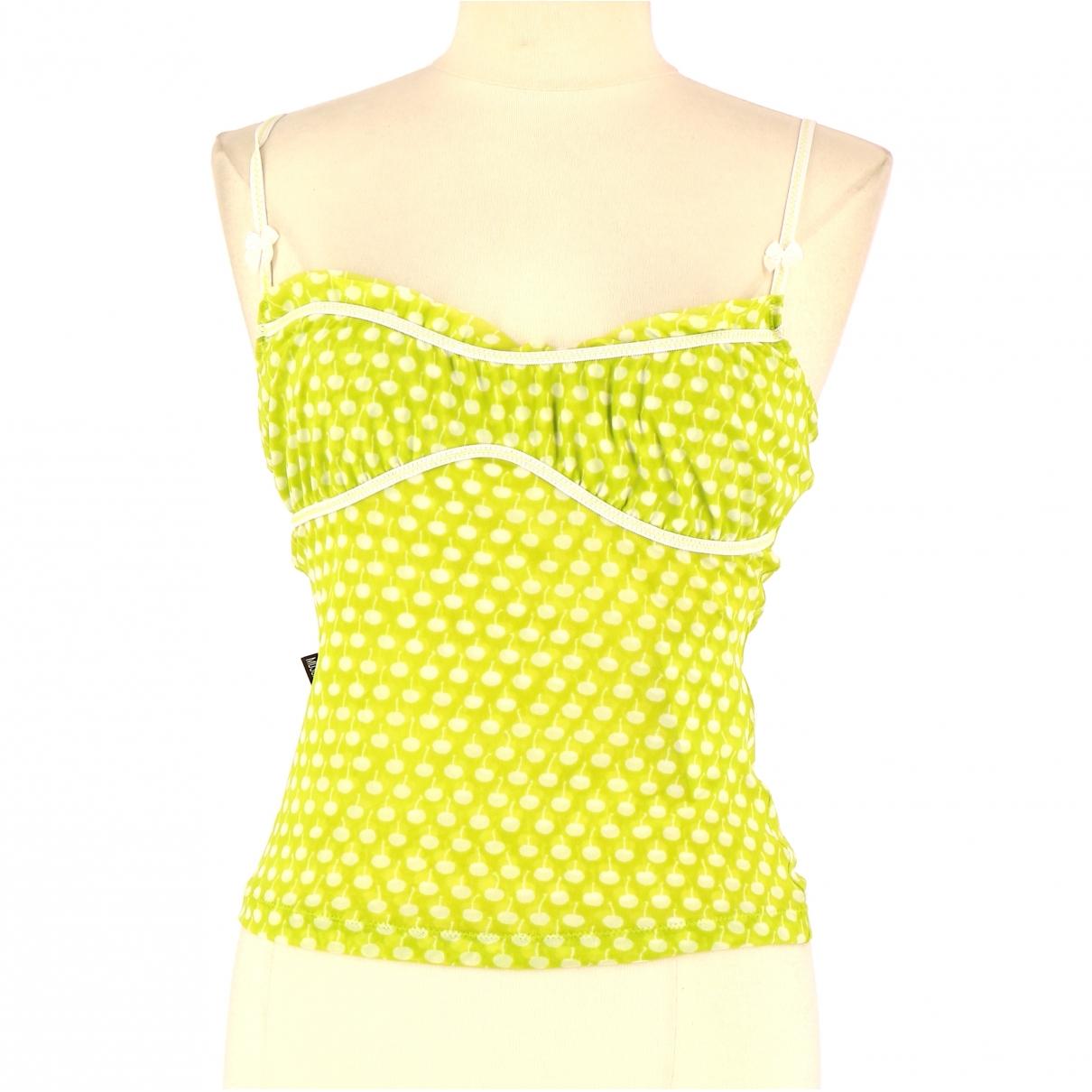 Moschino \N Green Cotton  top for Women 38 FR