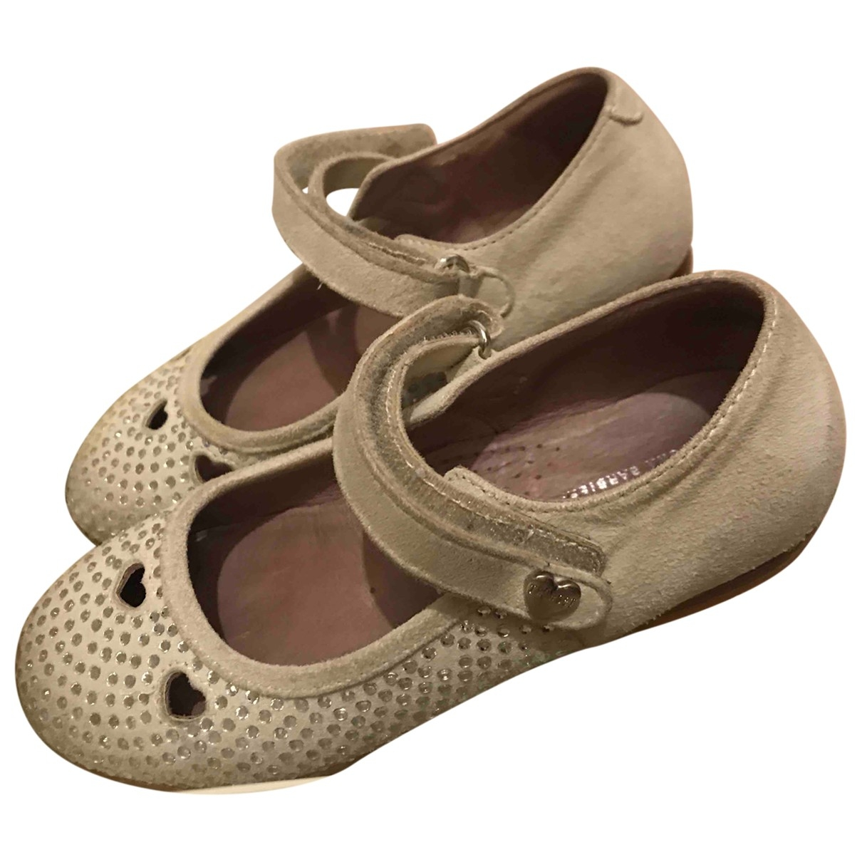 Twin Set \N Beige Leather Flats for Kids 28 EU