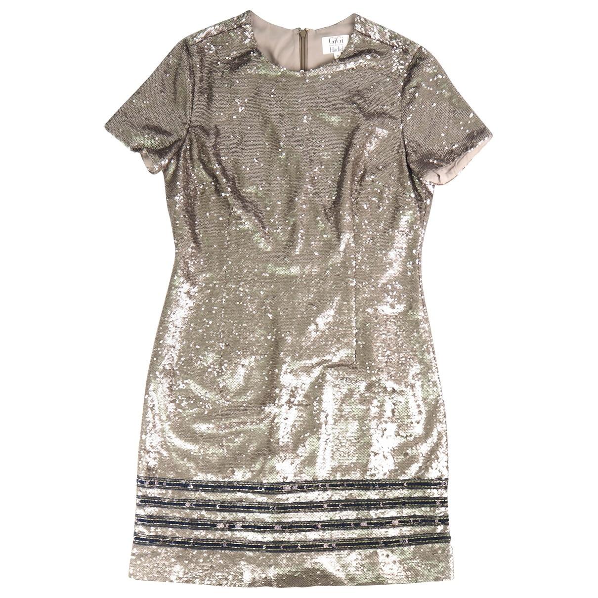 Gigi Hadid X Tommy Hilfiger \N Kleid in  Silber Polyester
