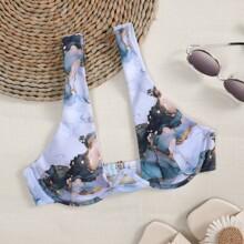 Bikini Top mit Wasser Farbe und Buegel