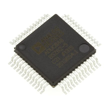 Analog Devices ADUC848BSZ62-5, 8bit 8052 Microcontroller, ADuC8, 12.58MHz, 4 kB, 62 kB Flash, 52-Pin MQFP
