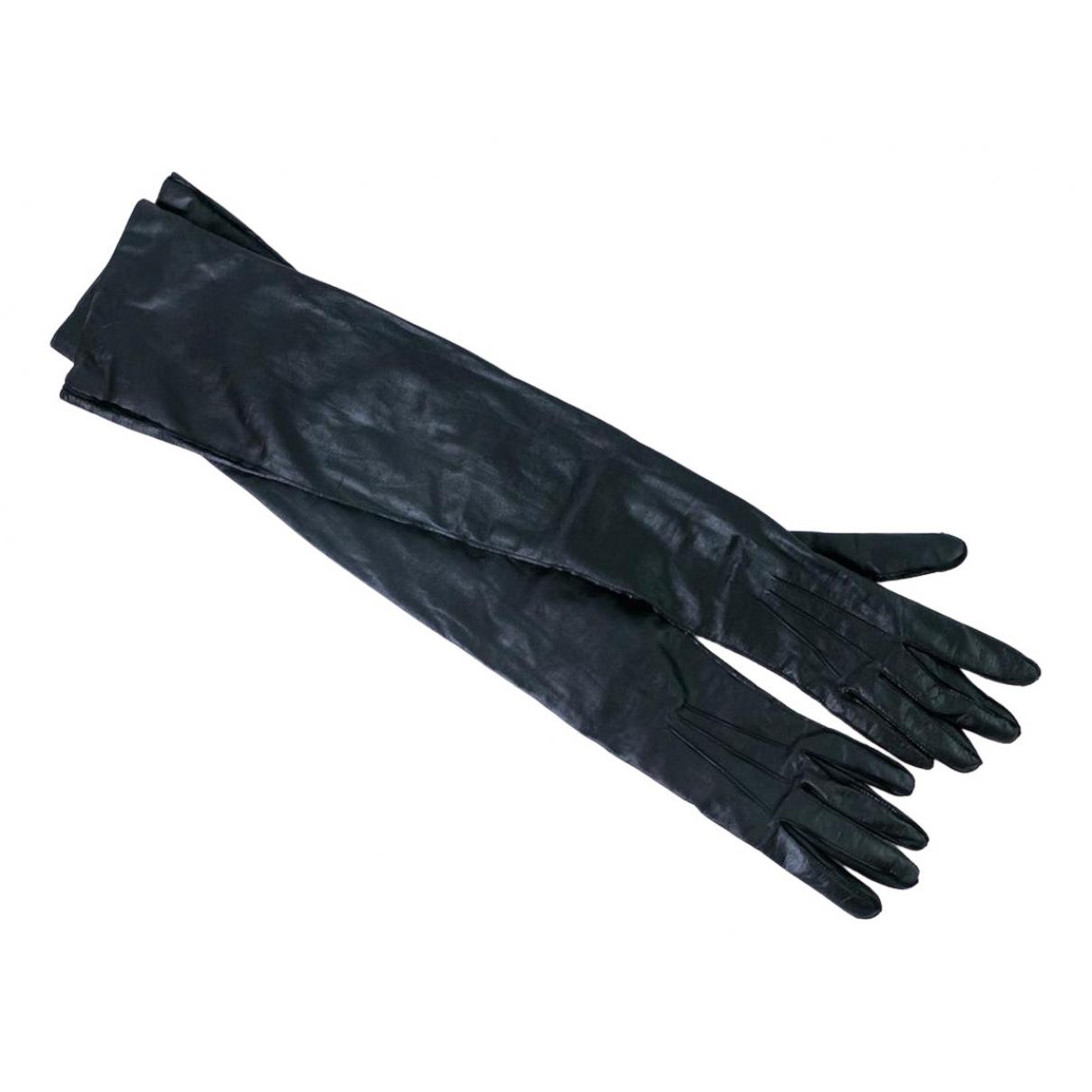 Ann Demeulemeester \N Handschuhe in  Schwarz Leder