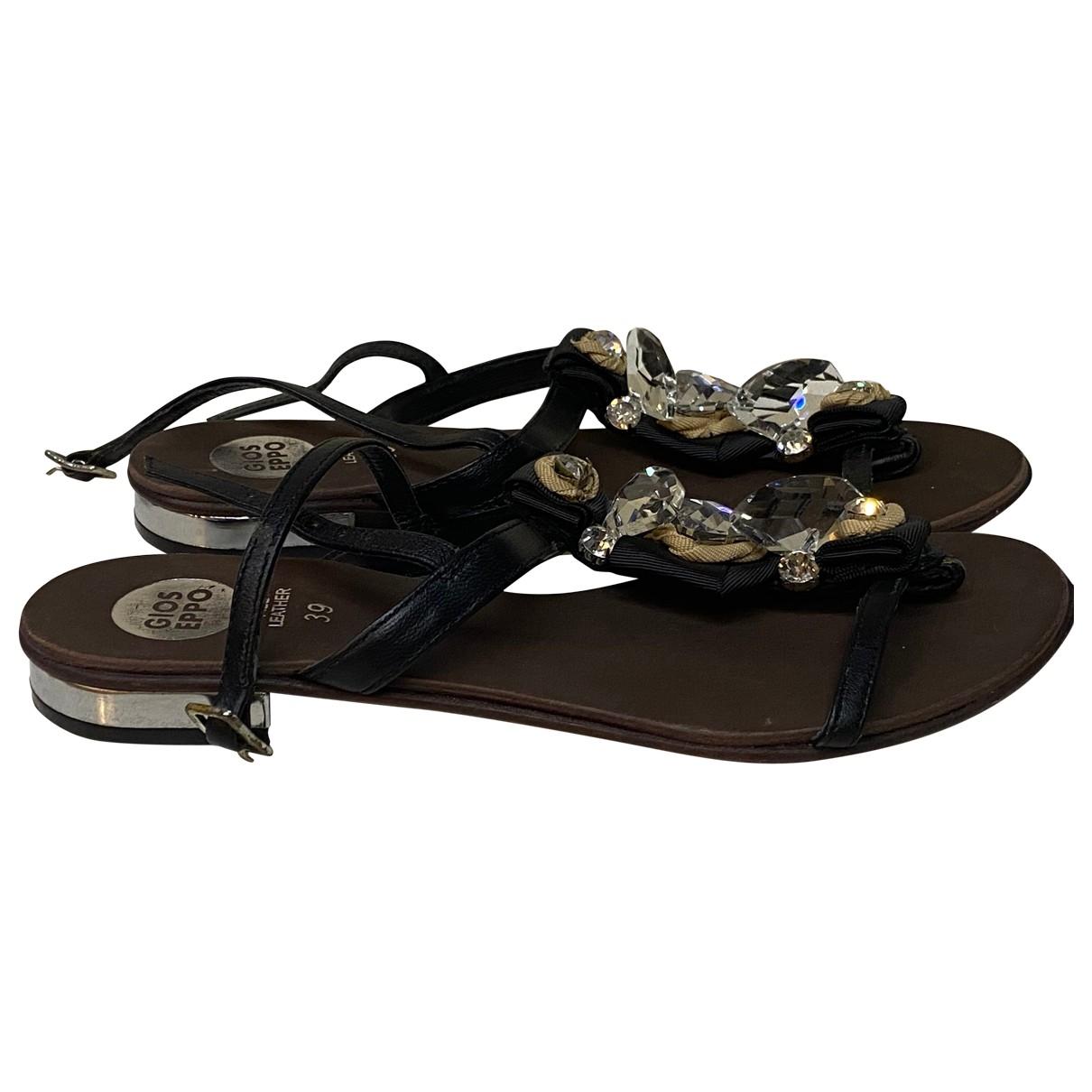 Gioseppo - Sandales   pour femme en cuir - noir