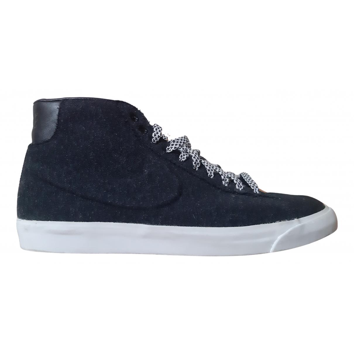 Nike Blazer Sneakers in  Anthrazit Leder