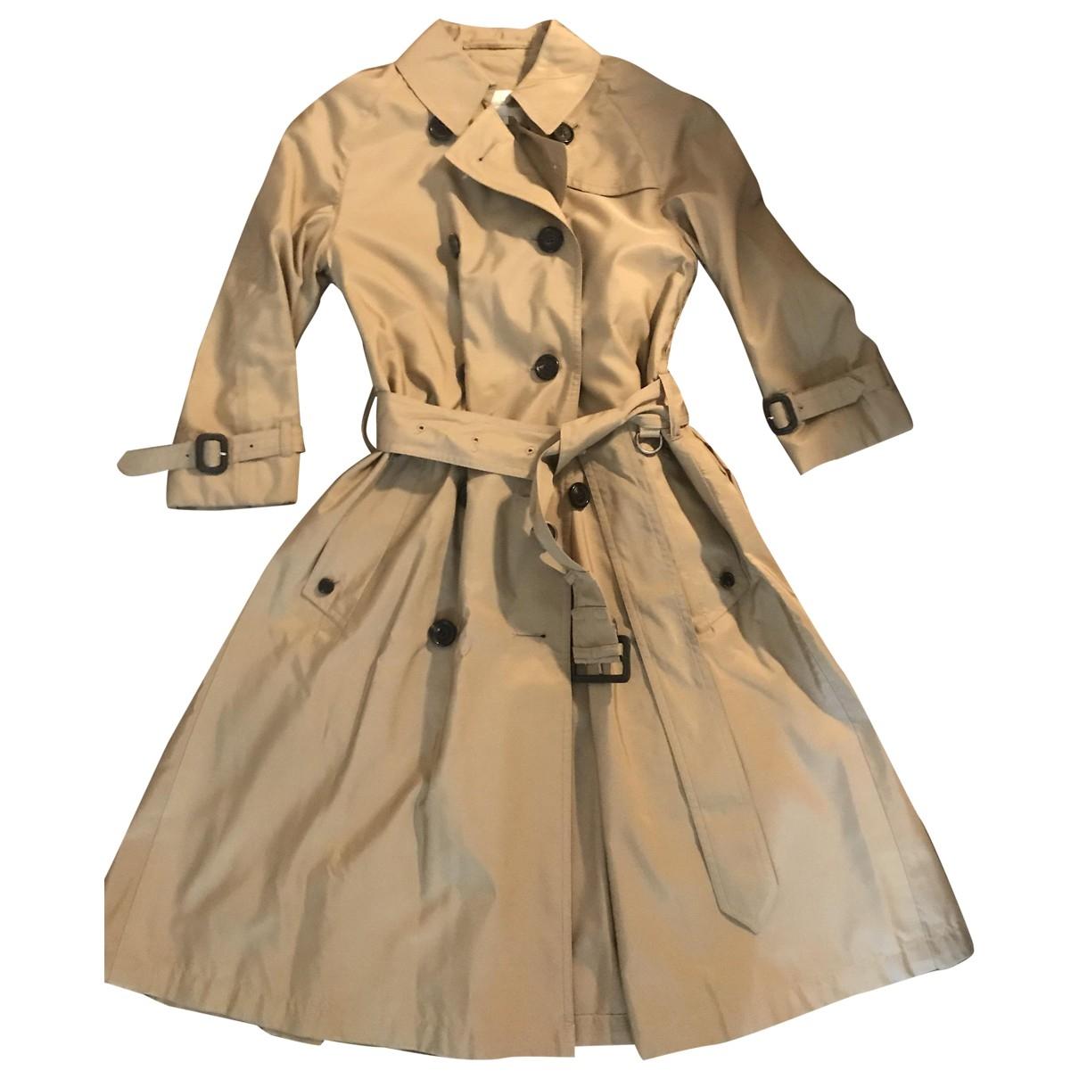 Aquascutum \N Camel Silk Trench coat for Women 1 0-5