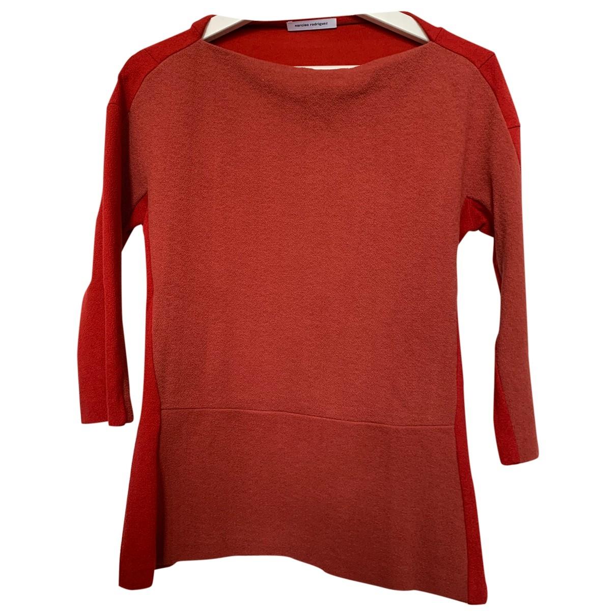 Narciso Rodriguez - Pull   pour femme en laine - rouge