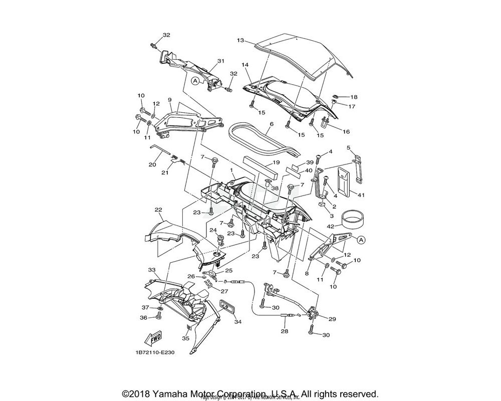 Yamaha OEM 1B7-28493-00-00 COVER LOCK ASSY 2