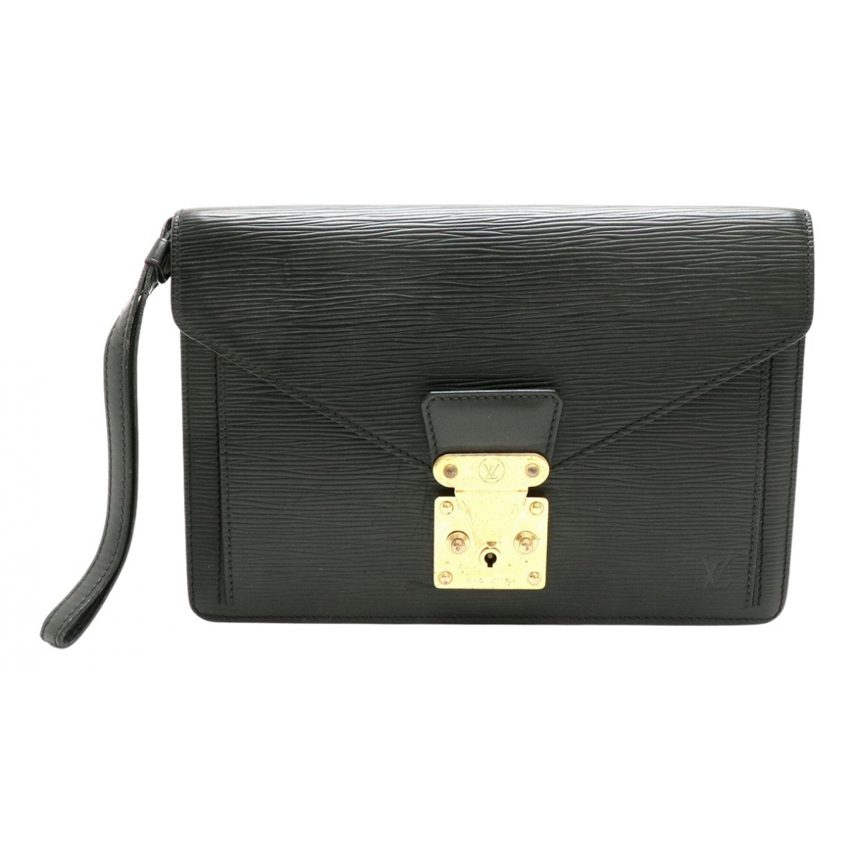 Louis Vuitton Sellier Black Leather Clutch bag for Women N