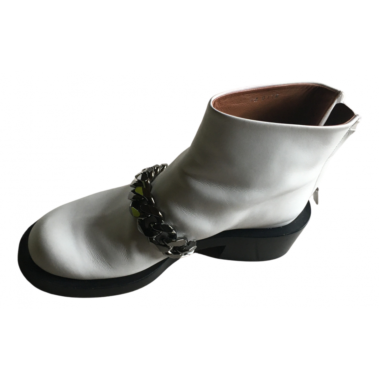 Givenchy N White Leather Ankle boots for Women 37 EU