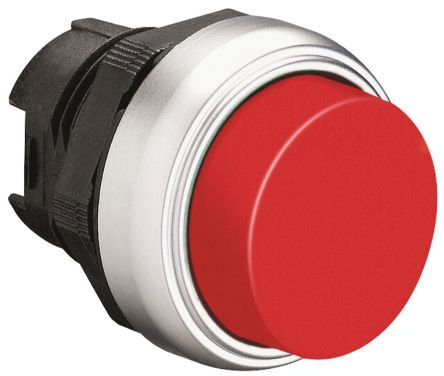 Lovato Extended Red Push Button Head - Spring Return, Platinum Series, 22mm Cutout, Round