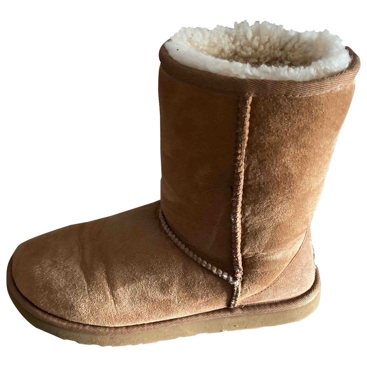 Ugg \N Brown Suede Boots for Women 38 EU
