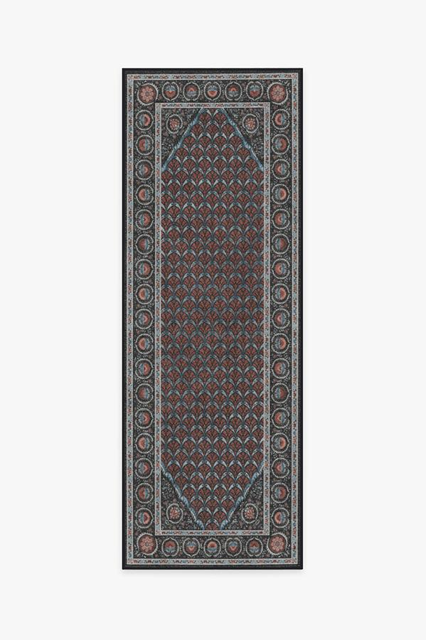 Washable Rug Cover & Pad | Samira Suzani Raspberry Rug | Stain-Resistant | Ruggable | 2.5'x7'