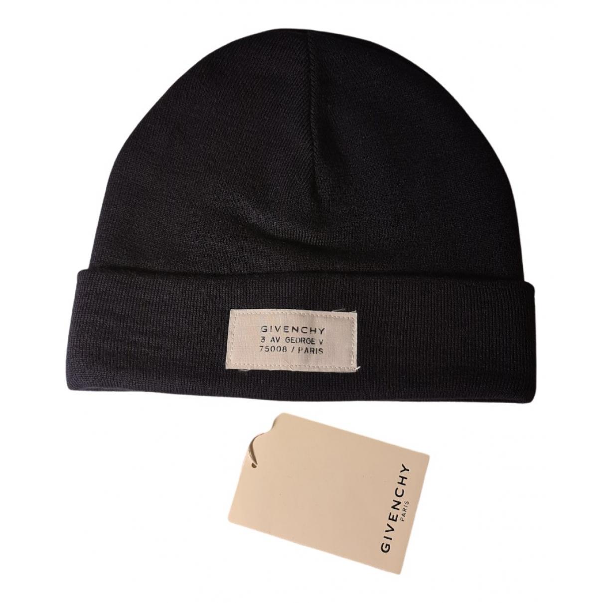 Givenchy - Chapeau & Bonnets   pour homme en laine - marine