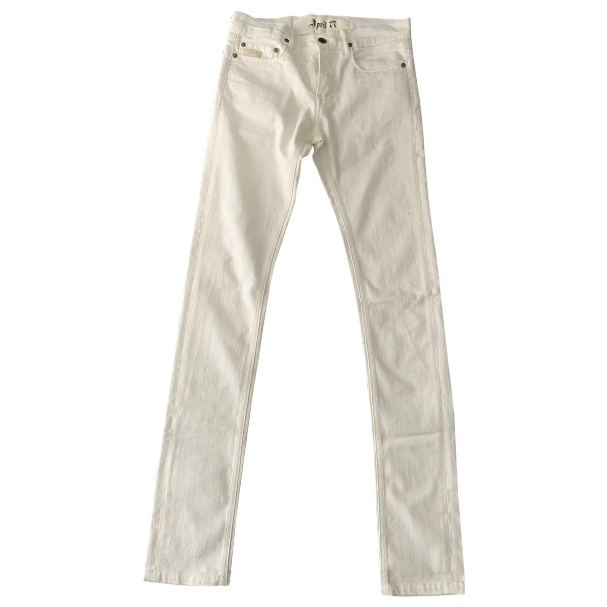 April 77 \N White Cotton Jeans for Women 26 US