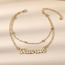 Constellation Letter Layered Anklet