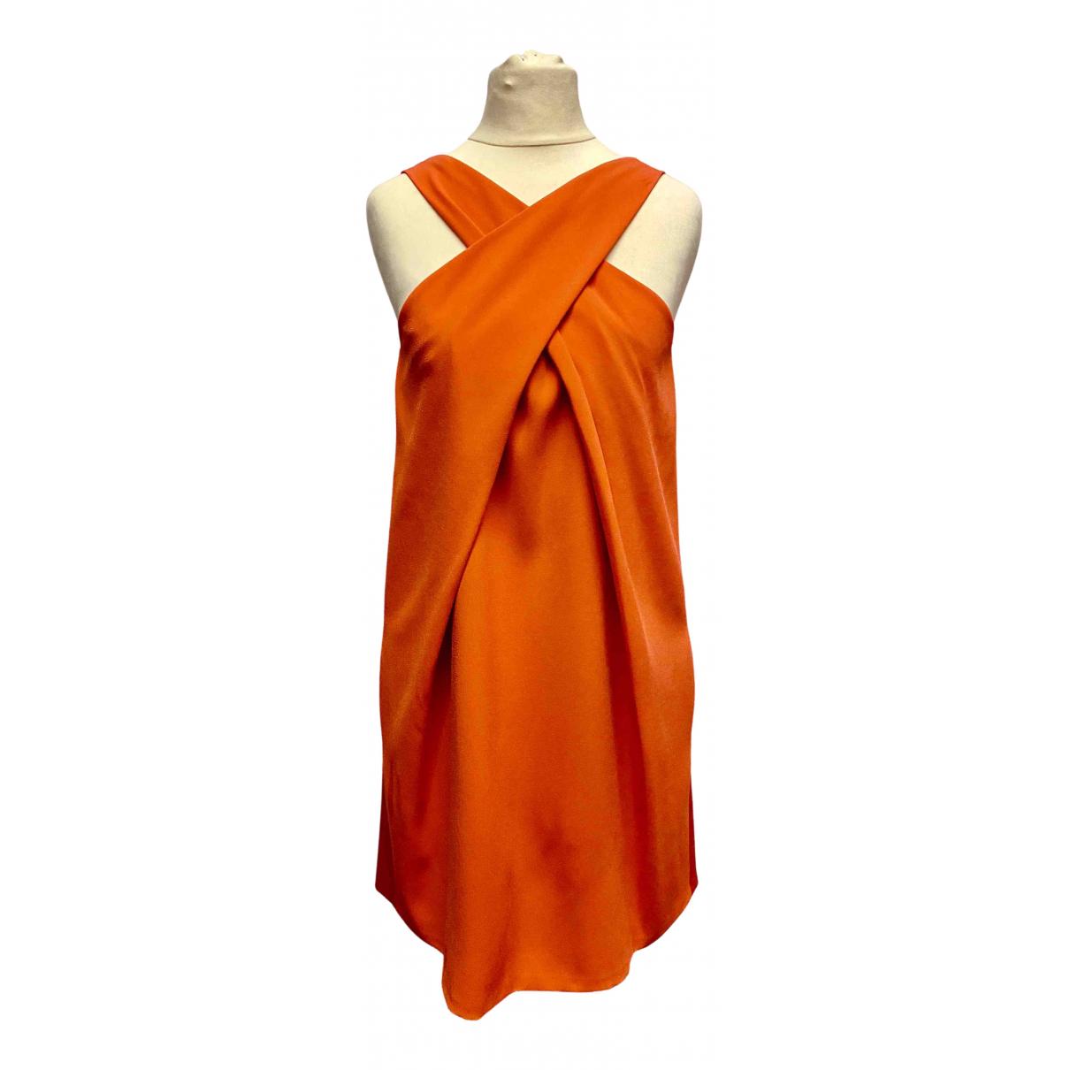 Paule Ka \N Kleid in  Orange Viskose