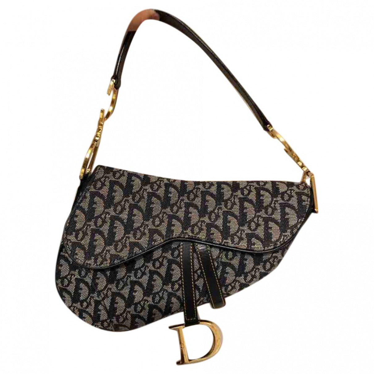 Dior Saddle Blue Cloth handbag for Women \N