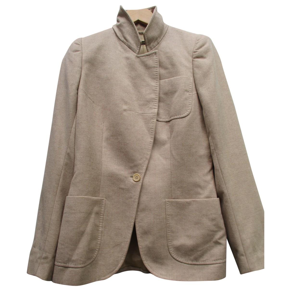 Alexander Mcqueen - Veste   pour femme en laine - marron